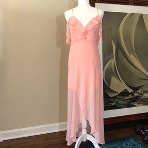 NWT Guess Pink Prom Maxi Formal Bridesmaid Dress